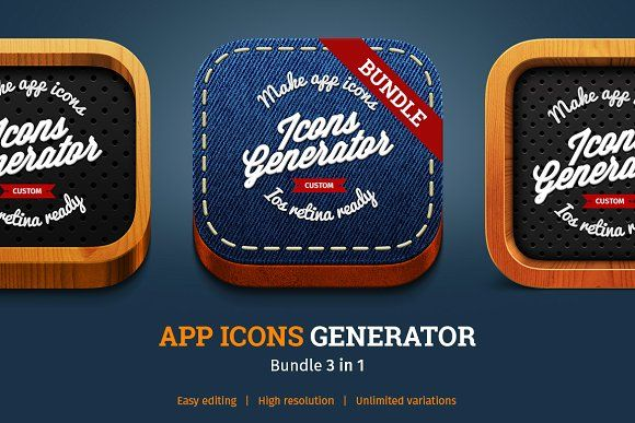 APP ICONS GENERATOR Bundle 3 in 1 by TITO on @creativemarket