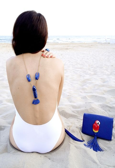 Collier Homard bleu
