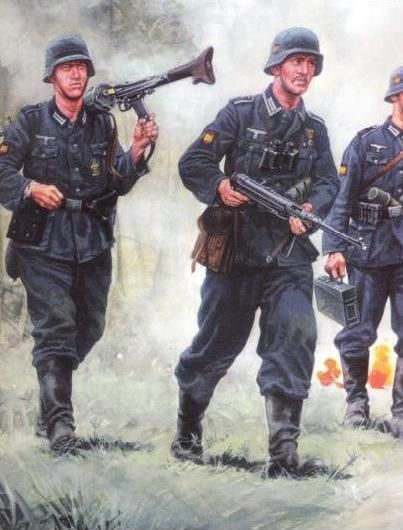 División Azul. Soldados en Combate.