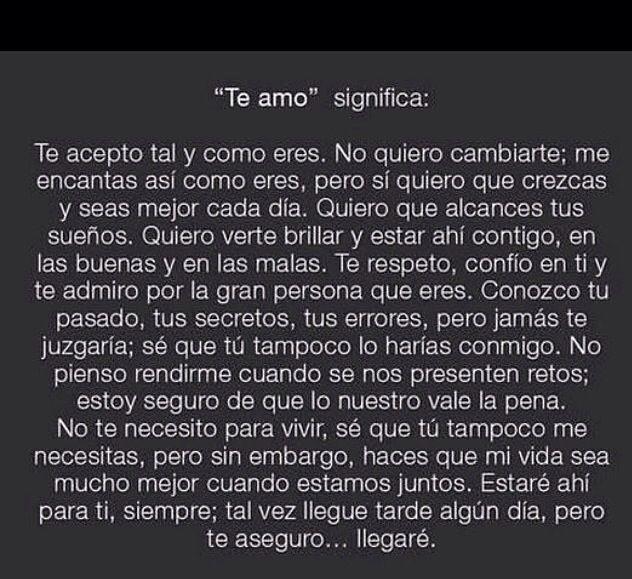"""""""Te amo"""""""
