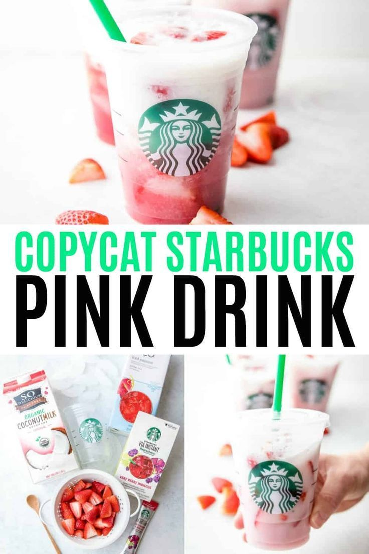 Briny our favorite coffee shop drink home! This Copycat Starbucks Pink Drink is …   – Blogger Copycat Recipes We Love