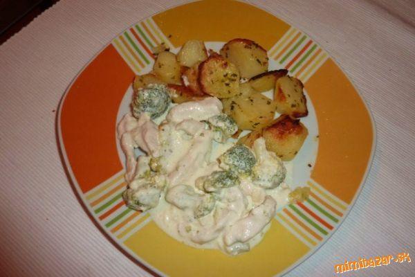 Kuracie soté s nivou a brokolicou-výborné!!!