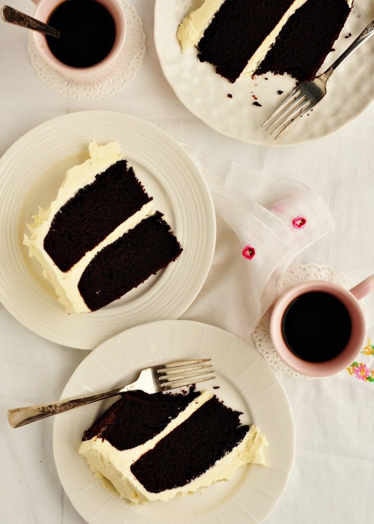 Chocolate stout cake with whipped vanilla bean frosting: Cakes Parties, Layered Cakes, Happy Birthday, Whipped Vanilla, Chocolates Cakes, Vanilla Beans Frostings, Stout Cakes, Chocolates Stout, Guinness Cakes