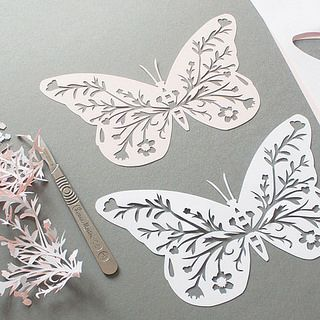 Cut Paper Butterflies by all things paper, via Flickr