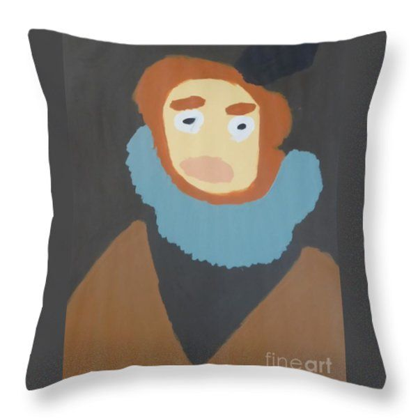 Throw Pillow featuring the painting Portrait Of Maria Anna 2015 - After Diego Velazquez by Patrick Francis