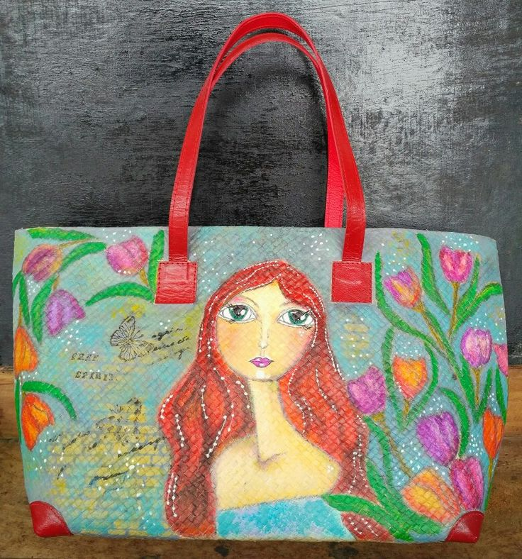 Lady tulips tote