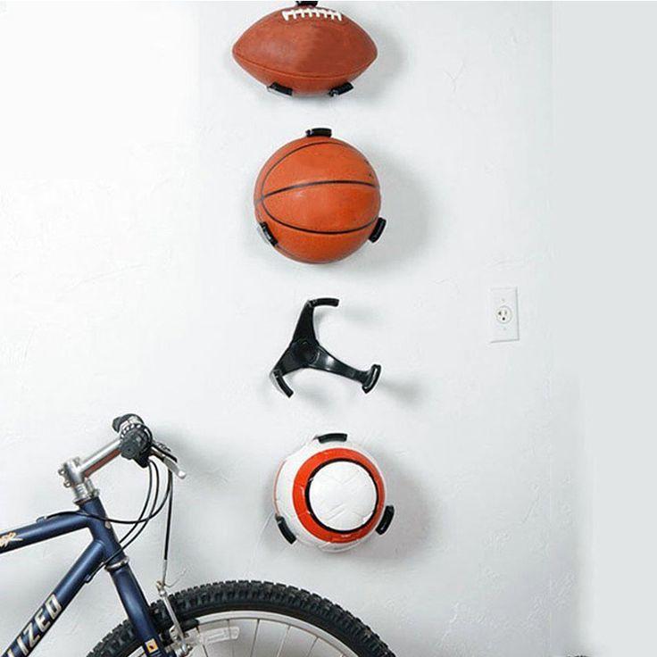 Porte balle Griffe Mur Montage En Rack Affichage Basketball Rugby Football Football De Sport Titulaire Organisateur Fournitures