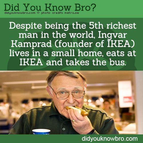 Ingvar Kamprad (founder of IKEA)