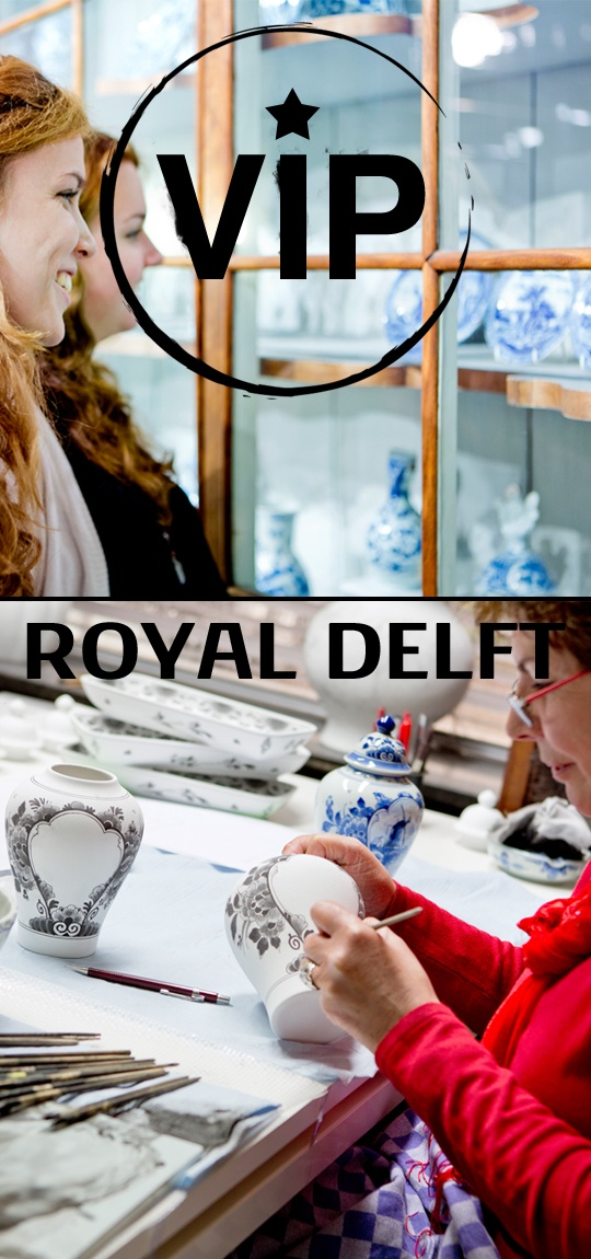 VIP Royal Delft Experience: Discover this iconic, 17th century Dutch landmark like a true VIP by dipping your brush into Delft Blue paint and creating your own masterpieces. After exploring the brand new Royal Delft Experience, enjoy a hot beverage, slice of apple pie and tile painting workshop from a skilled Dutch painter.