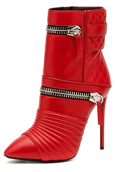 Giuseppe Zanotti ~ Red Leather Boots w Double Zip Detail 2014