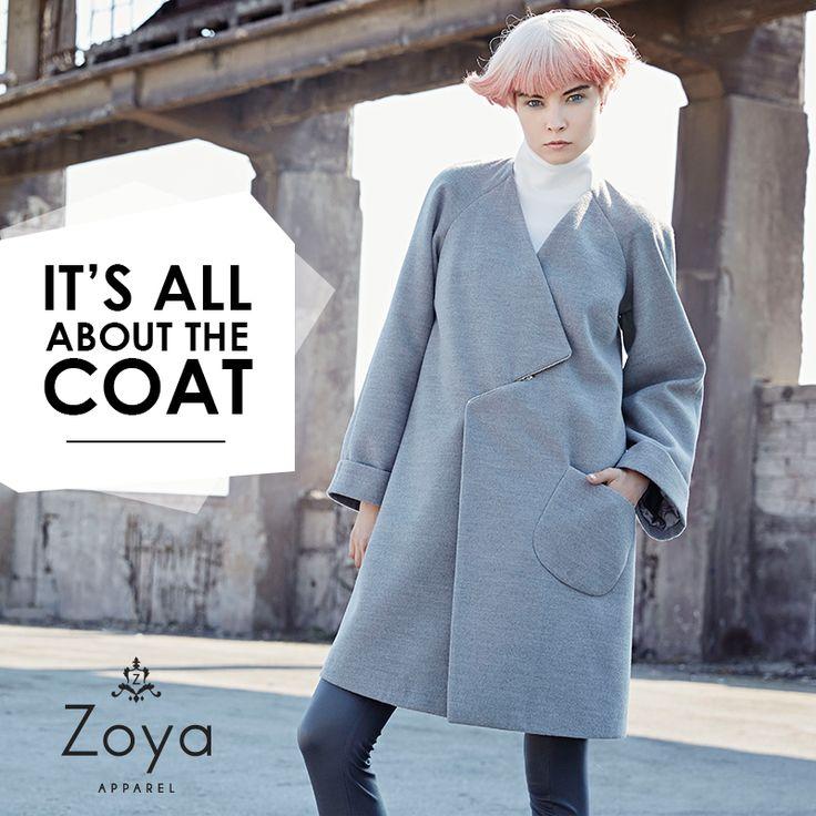 Oversized and Minimal. #zoya #apparel #fw2015 #style #coat #minimal