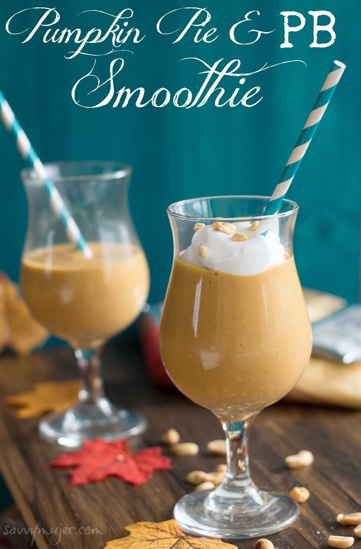 Have you ever thought of drinking pumpkin pie? It is possible. Here's a recipe that includes coconut and PB to make a really tasty smoothie in just minute!