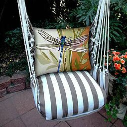 Dargonfly Striped Hammock Chair, Swing, Magnolia Casual