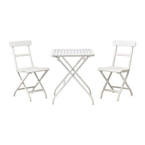 MÄLARÖ Table+2 chairs, outdoor - white - IKEA