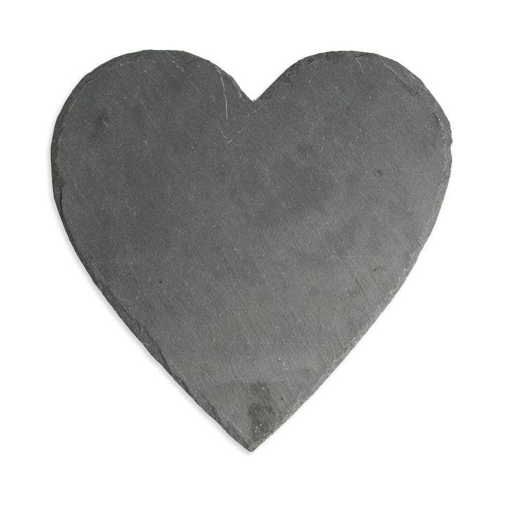 Heart Slate Serving Board