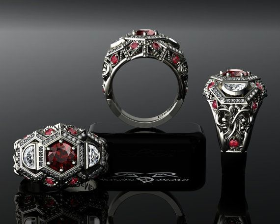 6459 best gothic engagement rings images on Pinterest