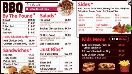 Barbecue Menu Board with Kids Menu | Digital Signage Template