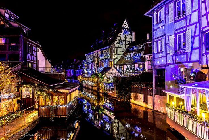La Petite Venise enchanteuse (Photo : Marc Talfournier) #Colmar #Alsace #France #Noël #Christmas #Weihnachten #lights #lumière #Licht #travel #voyage #Reise #magie #Zauber #magic (www.noel-colmar.com)