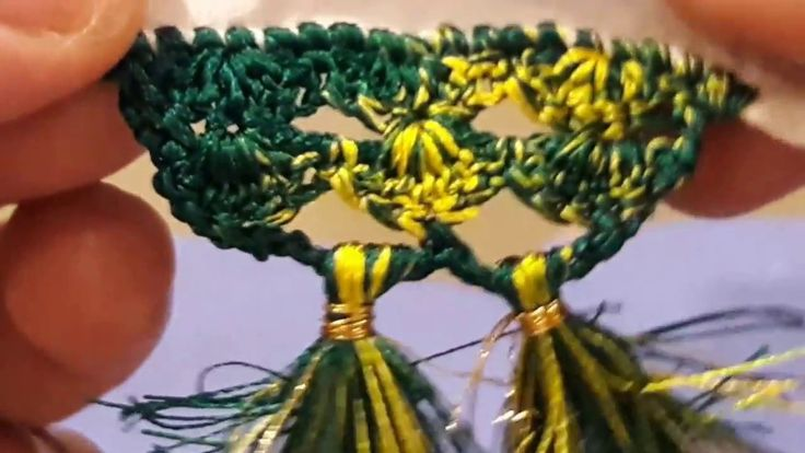 Saree Kuchu New Design.Shell one above another crochet design for saree tassel
