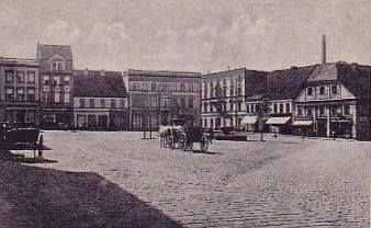 Rybnik, rynek, początek XX wieku.