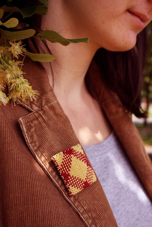 Brooch Otylia III by Zauzleno, textile jewelry
