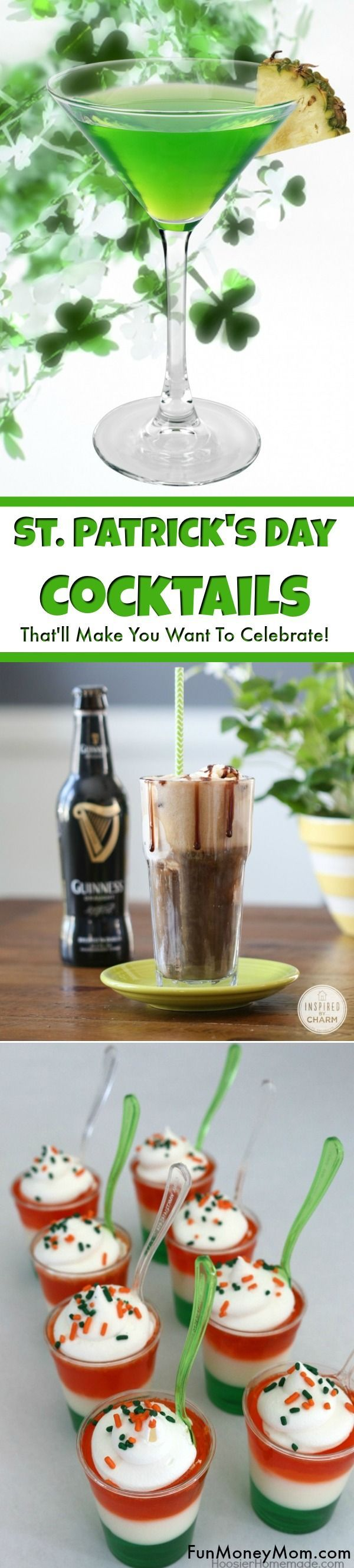 St. Patrick's Day Cocktails - Need cocktail ideas for St. Patrick's Day? These green drinks will make you want to celebrate! After all, St. Patrick's Day drinks are the best holiday cocktails of the year! #stpatricksday #cocktails #greendrinks