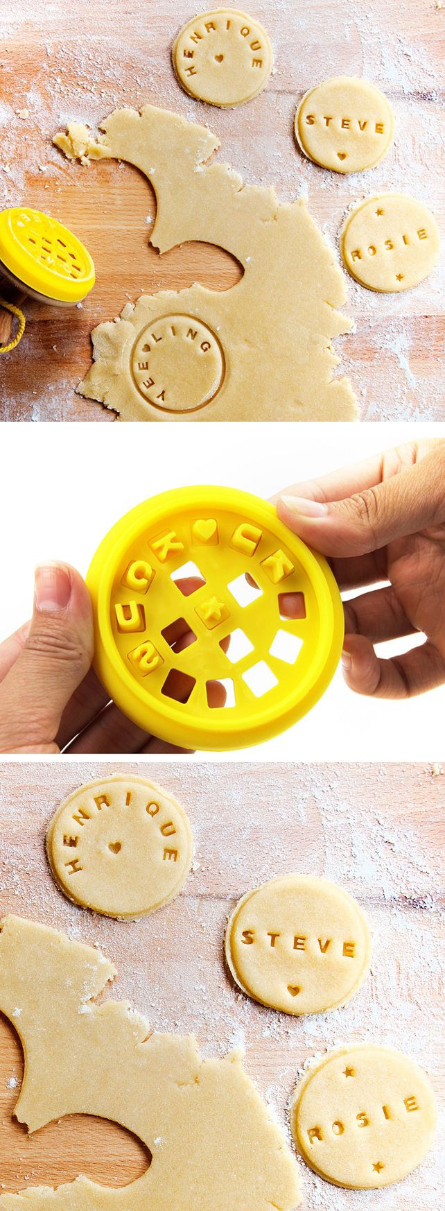 Customizable cookie stamper // perfect stamp for birthday, anniversary or holidays! #product_design #baking