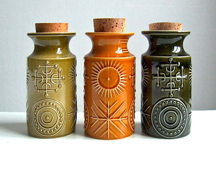 Potshots: Vintage storage jars from the 1960s.
