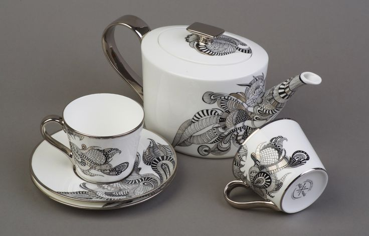 Чайный сервиз, ручная роспись