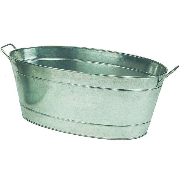 Large Oval Galvanized Tub