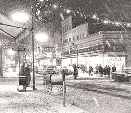 Christmas time in the city (New Bedford, MA)... December 1963... it was a simpler time.