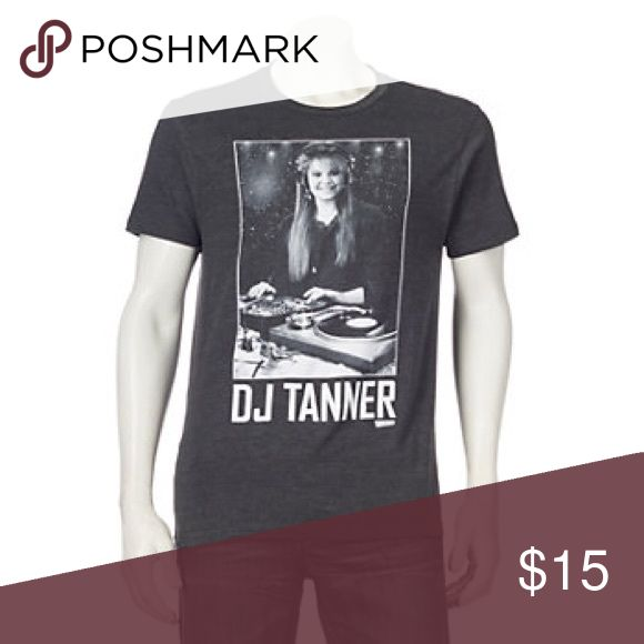 Men's Full House DJ Tanner Tee Product Details Cut it out! This men's Full House tee is too cool to resist.  PRODUCT FEATURES Crewneck Short sleeves FABRIC & CARE Cotton, polyester Machine wash Imported Shirts
