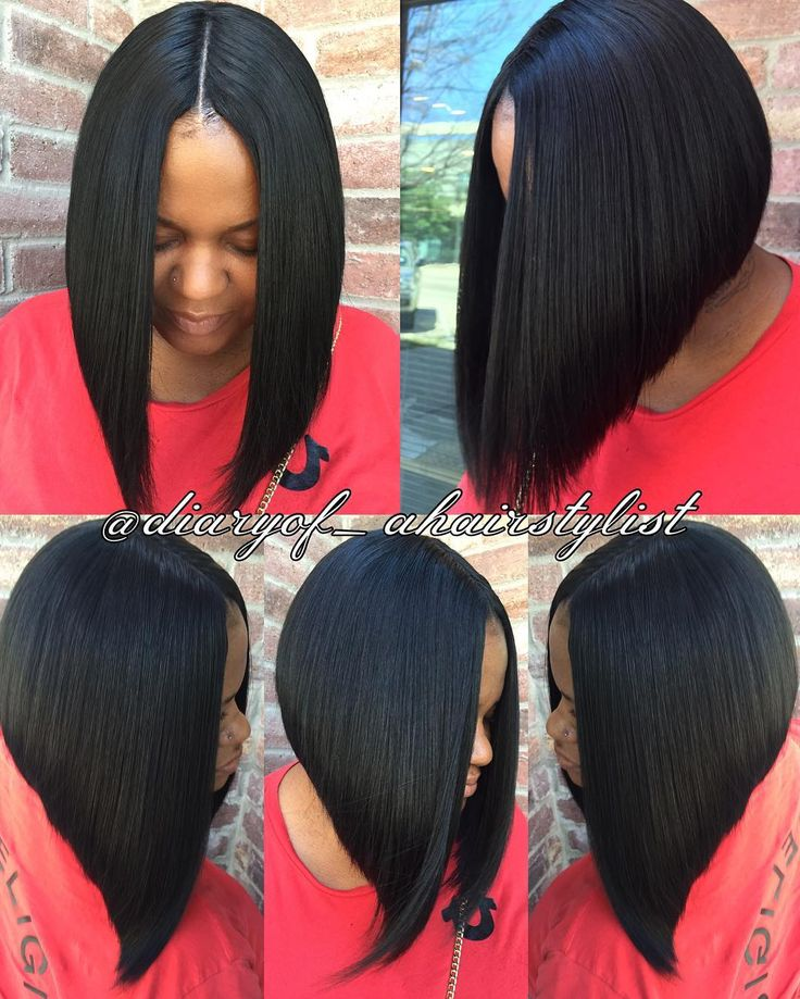 Invisible part quick weave Bob? Razored to perfection! #protectivestyling…