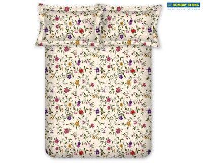 Sweet flower patterned sheet set.