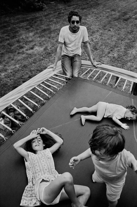 Bob Dylan with his children Maria, Jesse, and Anna    Photographed by Elliott Landy