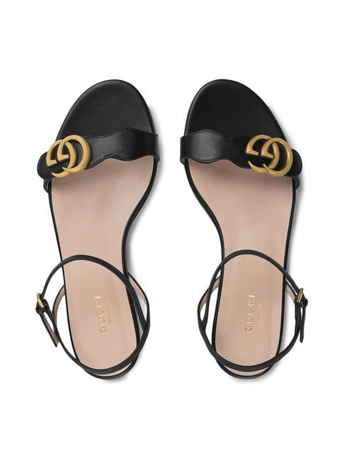 7ca8e2688 Gucci Leather Double G Sandal in 2019 | Picture | Sandals, Shoes ...