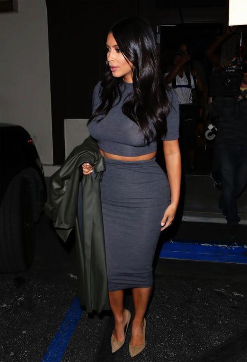 High-Waisted Skirt + Crop Top