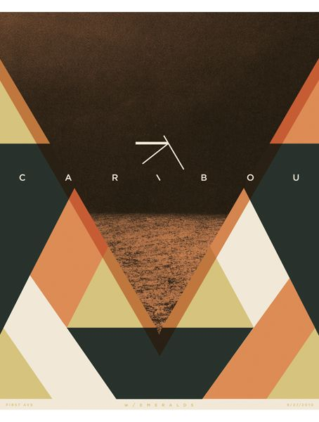 Caribou. Various Screen Printed Posters Pt.3 by Paul Gardner, via Behance