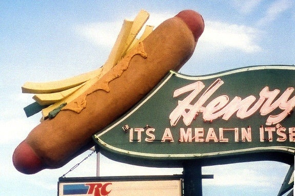 A giant hot dog in Cicero Illinois!
