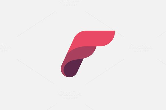 Abstract letter F logo design