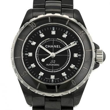 Reloj Chanel J 12 de cerámica noire Circa 2008