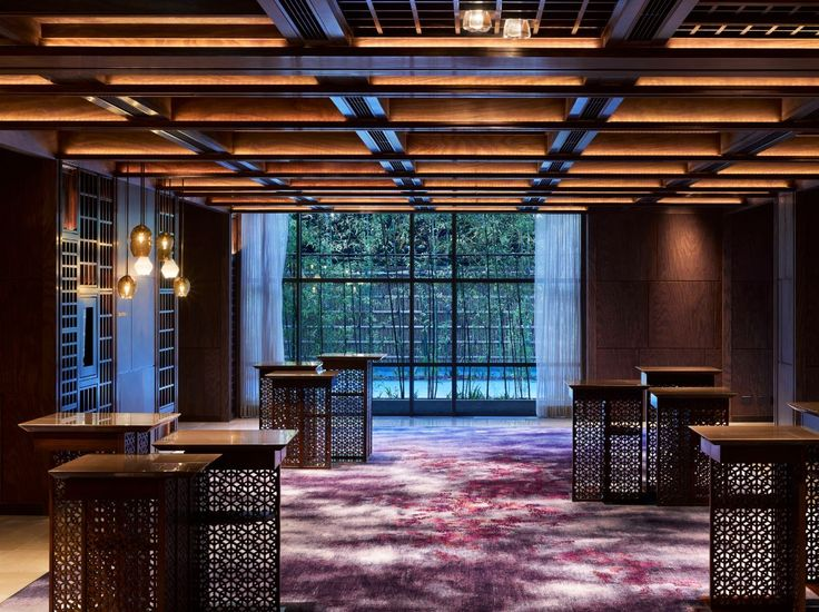 pre-function area at the Four Seasons Kyoto by HBA Design