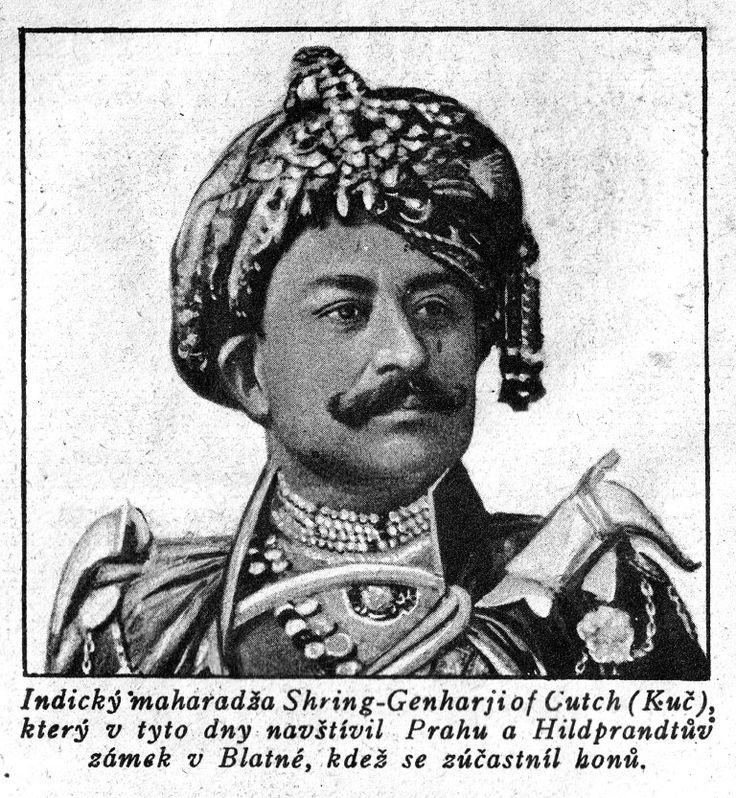 Indický maharadža Shring-Genharji of Cutch
