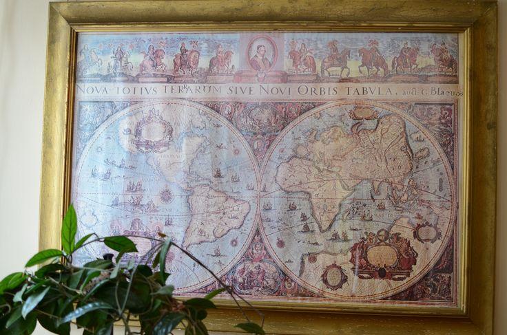 Mapa świata w naszej recepcji - bo cały świat stoi przed nami otworem :)