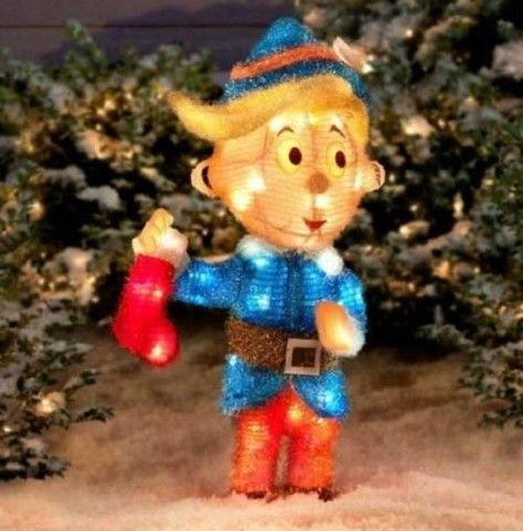 Outdoor Lighted Pre-Lit Christmas Rudolph Red Nosed Reindeer - Hermey The Dentist. Two Rivers Pediatric Dentistry – pediatric dentist in Moline, IL @  http://www.tworiverspedo.com