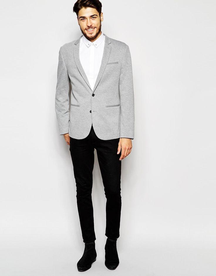 Image 4 ofASOS Skinny Blazer In Jersey