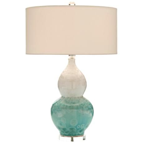 John Richard Elsa Crystalized Glazed Ceramic Table Lamp