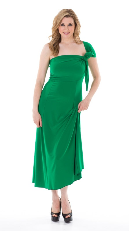 "Kelly-Green ""Fun Dress"" can be worn as 10 different styles!  www.turbine.ca"
