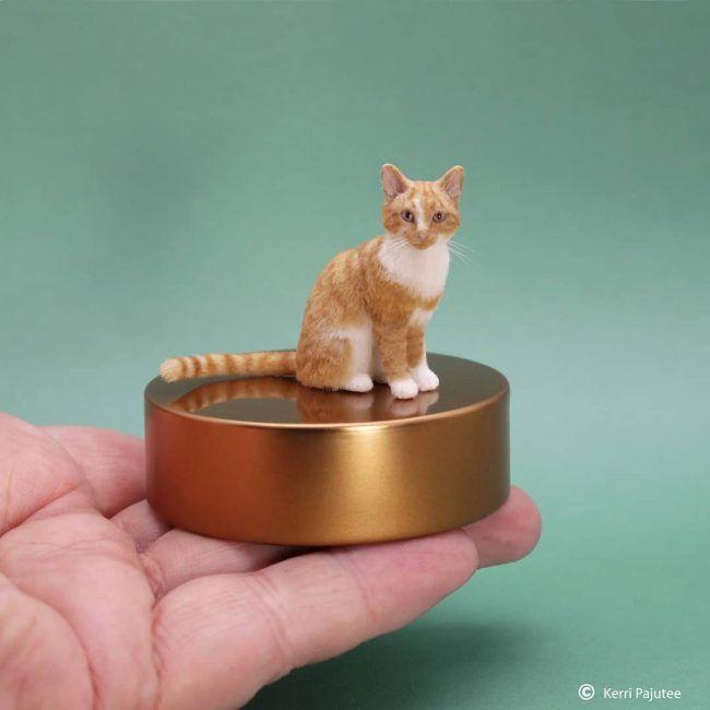 Artist Kerri Pajutee Creates Incredibly Realistic Miniature Animal Sculptures 剥製 手作り人形 動物