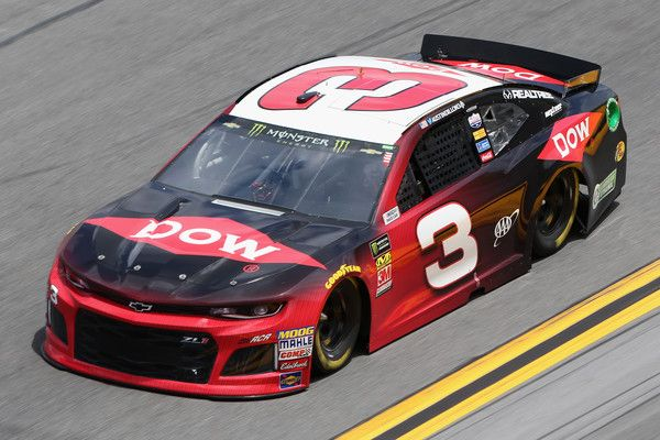 Austin Dillon, driver of the #3 DOW Chevrolet, qualifies for the Monster Energy NASCAR Cup Series Daytona 500 at Daytona International Speedway on February 11, 2018 in Daytona Beach, Florida.